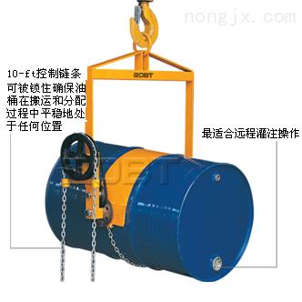 加齿轮式油桶起吊搬运夹
