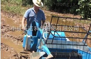 南田微型水稻收割机
